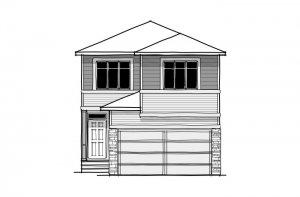 Sabal 3 - CB-Prairie C2 Elevation - 2,313 sqft, 4 Bedroom, 2.5 Bathroom - Cardel Homes Calgary