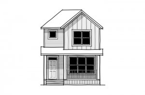 SAGE - CB-Farmhouse C3 Elevation - 1,437 sqft, 3 Bedroom, 2.5 Bathroom - Cardel Homes Calgary