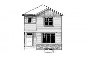 Sage 2 - CB-Craftsman C1 Elevation - 1,588 sqft, 3 Bedroom, 2.5 Bathroom - Cardel Homes Calgary