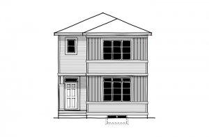 Sage 2 - CB-Prairie C2 Elevation - 1,588 sqft, 3 Bedroom, 2.5 Bathroom - Cardel Homes Calgary