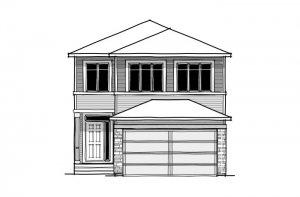 Senna - CB-Prairie C2 Elevation - 2,315 sqft, 3 Bedroom, 2.5 Bathroom - Cardel Homes Calgary