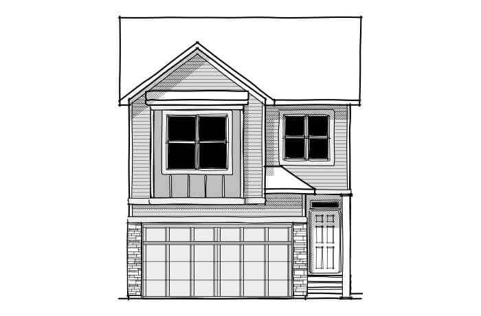 Strand - CB-Farmhouse C3 Elevation - 1,903 sqft, 3 Bedroom, 2.5 Bathroom - Cardel Homes Calgary