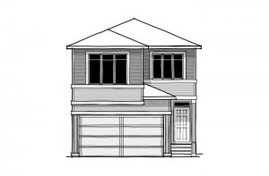 Strand - CB-Prairie C2 Elevation - 1,903 sqft, 3 Bedroom, 2.5 Bathroom - Cardel Homes Calgary