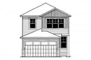 Emerge - CB-Craftsman C1 Elevation - 1,994 sqft, 3 Bedroom, 2.5 Bathroom - Cardel Homes Calgary