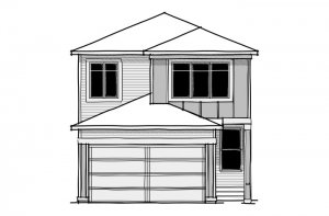 Emerge - CB-Prairie C2 Elevation - 1,994 sqft, 3 Bedroom, 2.5 Bathroom - Cardel Homes Calgary