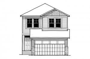 Invis 1 - CB-Craftsman C1 Elevation - 1,656 sqft, 3 Bedroom, 2.5 Bathroom - Cardel Homes Calgary