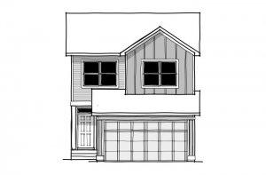 Invis 1 - CB-Farmhouse C2 Elevation - 1,656 sqft, 3 Bedroom, 2.5 Bathroom - Cardel Homes Calgary