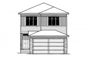 Invis 1 - CB-Prairie C2 Elevation - 1,656 sqft, 3 Bedroom, 2.5 Bathroom - Cardel Homes Calgary