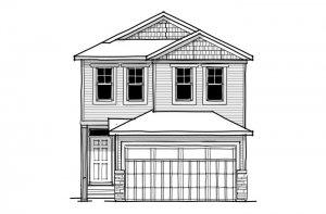 Invis 2 - CB-Craftsman C1 Elevation - 1,710 sqft, 3 Bedroom, 2.5 Bathroom - Cardel Homes Calgary