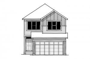 Invis 2 - CB-Craftsman C3 Elevation - 1,710 sqft, 3 Bedroom, 2.5 Bathroom - Cardel Homes Calgary