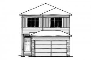 Invis 2 - CB-Prairie C2 Elevation - 1,710 sqft, 3 Bedroom, 2.5 Bathroom - Cardel Homes Calgary