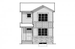 REENA - CB-Craftsman C1 Elevation - 1,233 sqft, 3 Bedroom, 2.5 Bathroom - Cardel Homes Calgary