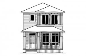 REENA - CB-Prairie C2 Elevation - 1,233 sqft, 3 Bedroom, 2.5 Bathroom - Cardel Homes Calgary