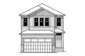 SANDHURST ZL - CB-Craftsman C1 Elevation - 1,917 sqft, 3 Bedroom, 2.5 Bathroom - Cardel Homes Calgary