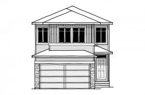 SANDHURST ZL - CB-Prairie C2 Elevation - 1,917 sqft, 3 Bedroom, 2.5 Bathroom - Cardel Homes Calgary