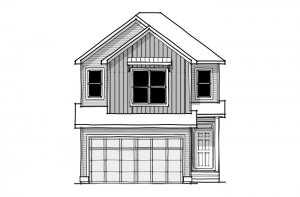 Sereno - CB-Farmhouse C3 Elevation - 2,385 sqft, 4 Bedroom, 2.5 Bathroom - Cardel Homes Calgary