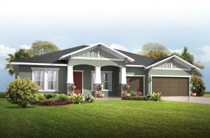 Wesley - Craftsman Elevation - 2,830 - 3,228 sqft, 4 Bedroom, 3-4 Bathroom - Cardel Homes Tampa