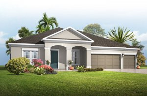 Wesley - Traditional Elevation - 2,830 - 3,228 sqft, 4 Bedroom, 3-4 Bathroom - Cardel Homes Tampa