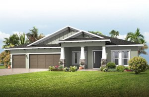 Savannah - Craftsman Elevation - 3,308 sqft, 4 Bedroom, 3 Bathroom - Cardel Homes Tampa