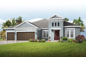 Savannah - Mediterranean Elevation - 3,308 sqft, 4 Bedroom, 3 Bathroom - Cardel Homes Tampa