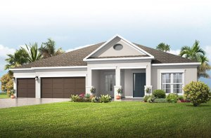 Savannah - Traditional Elevation - 3,308 sqft, 4 Bedroom, 3 Bathroom - Cardel Homes Tampa