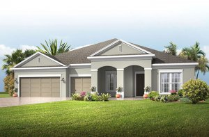 Henley - Traditional Elevation - 3,000 - 3,939 sqft, 4-5 Bedroom, 3-4 Bathroom - Cardel Homes Tampa