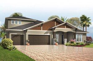 Henley - Craftsman with Option #3 Elevation - 3,000 - 3,939 sqft, 4-5 Bedroom, 3-4 Bathroom - Cardel Homes Tampa