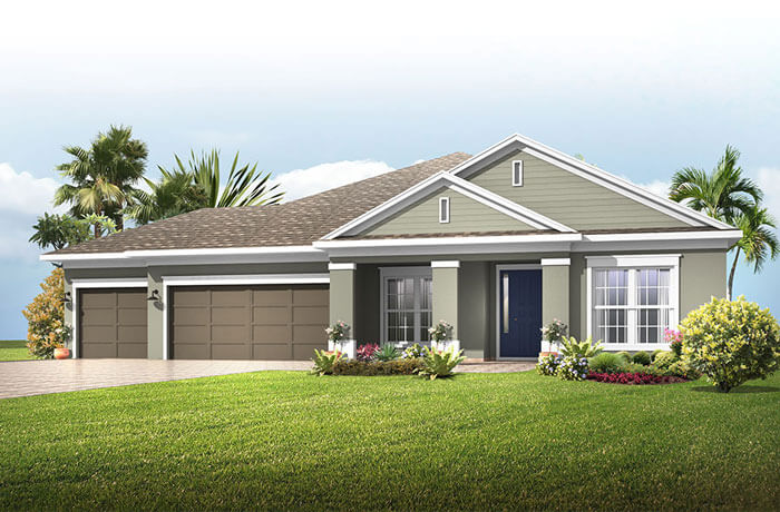 Barrett - Traditional Elevation - 2,507 - 3,120 sqft, 3-4 Bedroom, 2-4 Bathroom - Cardel Homes Tampa