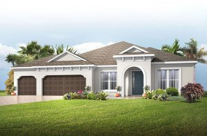 Barrett - Mediterranean Elevation - 2,507 - 3,120 sqft, 3-4 Bedroom, 2-4 Bathroom - Cardel Homes Tampa