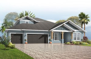 Barrett - Craftsman with Option #4 Elevation - 2,507 - 3,120 sqft, 3-4 Bedroom, 2-4 Bathroom - Cardel Homes Tampa