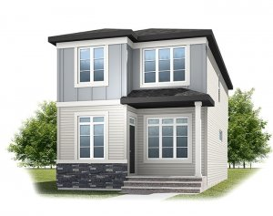 Tarmon - CB-Prairie C2 Elevation - 1,620 sqft, 3 Bedroom, 2.5 Bathroom - Cardel Homes Calgary