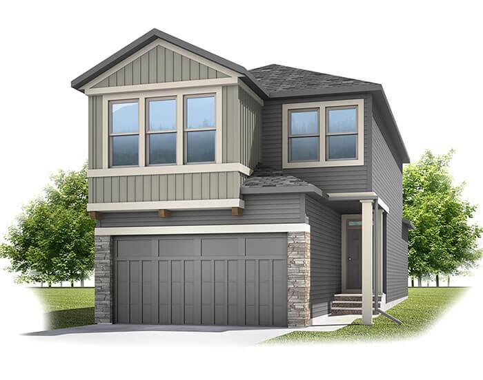 Strand - CB-Craftsman C1 Elevation - 1,903 sqft, 3 Bedroom, 2.5 Bathroom - Cardel Homes Calgary