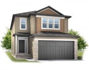 Senna - CB-Craftsman C1 Elevation - 2,315 sqft, 3 Bedroom, 2.5 Bathroom - Cardel Homes Calgary