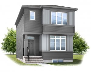 SAGE - CB-Prairie C2 Elevation - 1,437 sqft, 3 Bedroom, 2.5 Bathroom - Cardel Homes Calgary