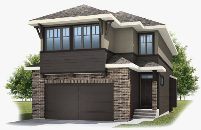 New Calgary Single Family Home Quick Possession Barrett 2 in Shawnee Park, located at 326 SHAWNEE BOULEVARD SW  Built By Cardel Homes Calgary