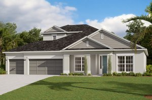 Barrett-Traditional Elevation - 3,120 sqft, 3-5 Bedroom, 2-4 Bathroom - Cardel Homes Tampa
