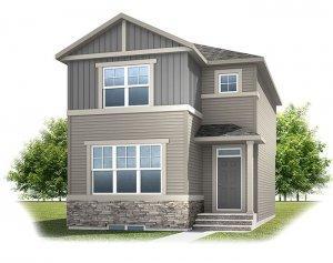 Cornerbrook-Alder3C1Craftsman Elevation - 1,553 sqft, 3 Bedroom, 2.5 Bathroom - Cardel Homes Calgary