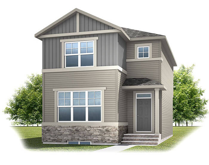 New home in ALDER 3 in Cornerbrook, 1,553 SQFT, 3 Bedroom, 2.5 Bath, Starting at 414,000 - Cardel Homes Calgary