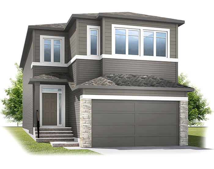 New Calgary Single Family Home Quick Possession Aster 1 in Cornerbrook, located at 244 Cornerbrook Common NE Built By Cardel Homes