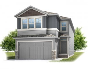 Cornerbrook-Aster2C1-Craftsman Elevation - 2,468 sqft, 4 Bedroom, 2.5 Bathroom - Cardel Homes Calgary