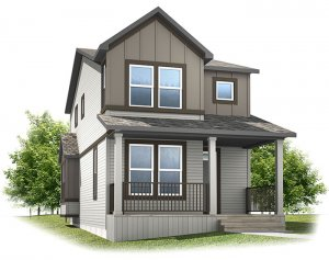 Cornerbrook-MensaC4-Farmhouse Elevation - 1,538 sqft, 4 Bedroom, 3 Bathroom - Cardel Homes Calgary
