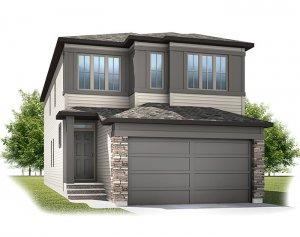 Cornerbrook-Sabal1C2-Prairie Elevation - 2,313 sqft, 4 Bedroom, 2.5 Bathroom - Cardel Homes Calgary