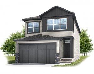 Cornerbrook-Sabal2C1-Craftsman Elevation - 2,313 sqft, 4 Bedroom, 2.5 Bathroom - Cardel Homes Calgary