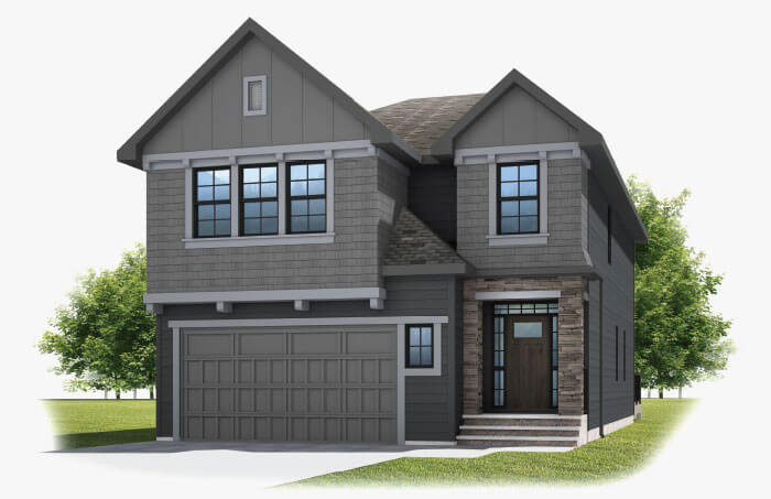 New Calgary Single Family Home Selkirk 2 in Shawnee Park, located at 334 SHAWNEE BOULEVARD SW  Built By Cardel Homes Calgary