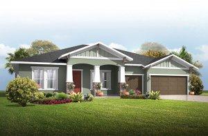 Wesley_Craftsman Elevation - 2,830 - 3,228 sqft, 4 Bedroom, 3-4 Bathroom - Cardel Homes Tampa