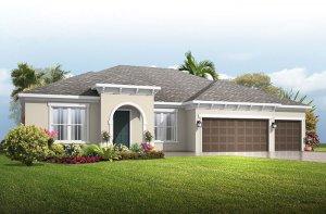 Wesley_Mediterranean Elevation - 2,830 - 3,228 sqft, 4 Bedroom, 3-4 Bathroom - Cardel Homes Tampa