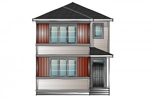 mensa2-Prairie-C2 Elevation - 1,871 sqft, 4 Bedroom, 3 Bathroom - Cardel Homes Calgary