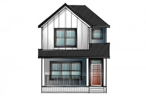 mensa2-Traditional-C3 Elevation - 1,871 sqft, 4 Bedroom, 3 Bathroom - Cardel Homes Calgary