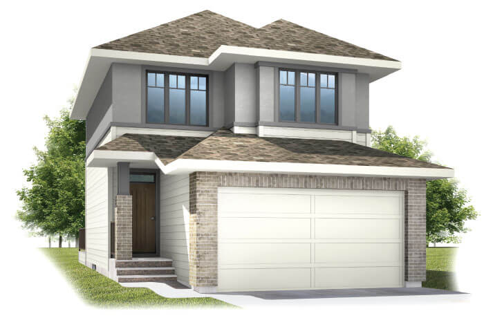 Birch - SP - Prairie S3 Elevation - 1,806 sqft, 3 Bedroom, 2.5 Bathroom - Cardel Homes Calgary
