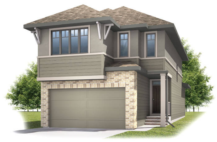 Cottonwood - SP - Prairie S3 Elevation - 2,499 sqft, 4 Bedroom, 3.5 Bathroom - Cardel Homes Calgary
